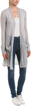 Three Dots Gossamer Knee-Length Cardigan