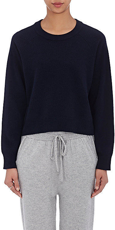 T by Alexander Wang Women's Crop Sweater-NAVY