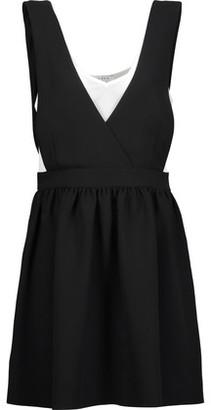 Sandro Riley Layered Crepe Mini Dress $325 thestylecure.com