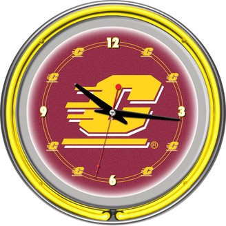 Kohl's Central Michigan Chippewas Chrome Double-Ring Neon Wall Clock