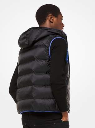 Michael Kors Color-Block Quilted-Nylon Vest