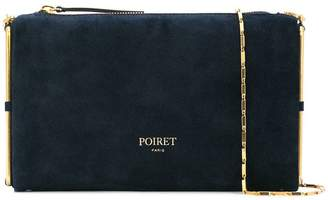 Poiret metallic-frame clutch bag
