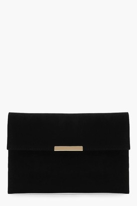 boohoo Envelope Clutch And Bar