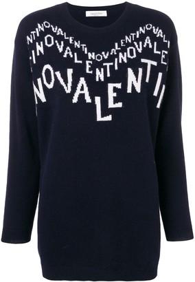 Valentino cashmere intarsia logo jumper