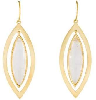Irene Neuwirth 18K Moonstone Drop Earrings