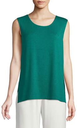 Caroline Rose Gauze Knit Longer Tank, Plus Size