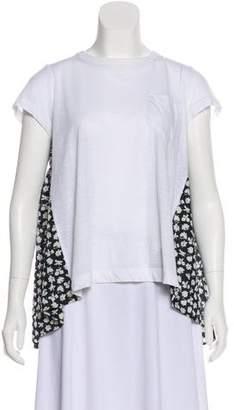 Sacai Printed Short Sleeve Top