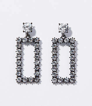 LOFT Crystal Square Drop Earrings