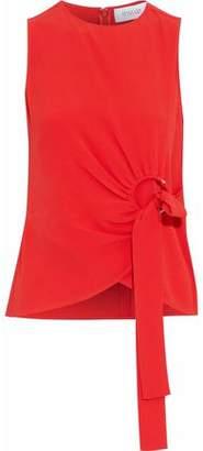 Derek Lam 10 Crosby Embellished Textured Silk-Blend Top