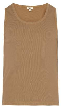 Phipps - Ribbed Cotton Tank Top - Mens - Tan