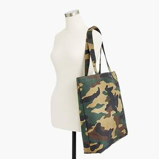 J.Crew Large reusable everyday tote in camo