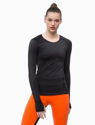 Calvin Klein logo crewneck long sleeve compression top