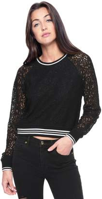 Juicy Couture Fleece & Lace Pullover