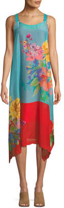 Johnny Was Lomi Georgette Tank Dress with Slip