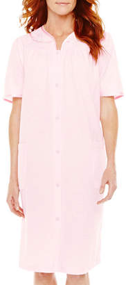 JCPenney Adonna Short-Sleeve Snap Front Duster Robe