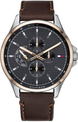 Tommy Hilfiger Shawn Leather Strap 1791615 Chronograph Watch