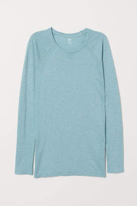 H&M Long-sleeved Sports Top - Turquoise
