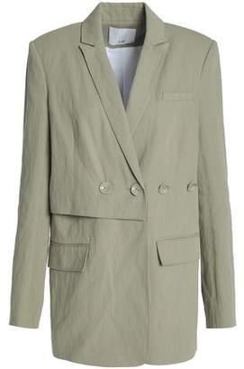 Tibi Double-Breasted Cotton-Blend Twill Blazer