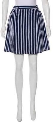 MAISON KITSUNÉ Striped Knee-Length Skirt