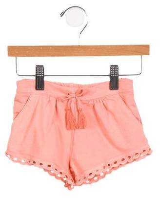 Chloé Girls' Eyelet- Accented Shorts w/ Tags