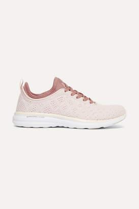 APL Athletic Propulsion Labs Techloom Phantom 3d Mesh Sneakers - Pastel pink