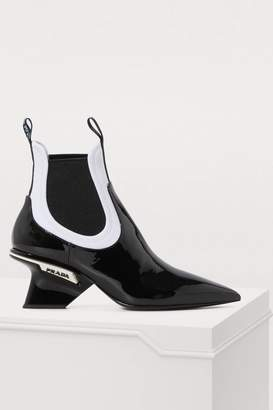 Prada Leather and neoprene ankle boots