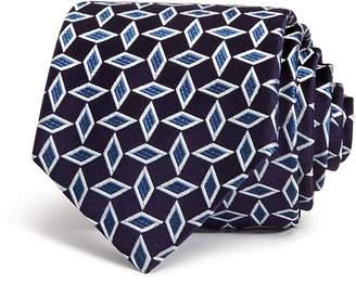 Emporio Armani Diamond-Geo Classic Silk Tie