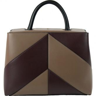 Carolina Herrera Khaki Leather Handbag