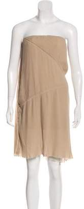 Acne Studios Strapless Pleated Dress