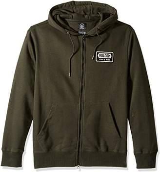 Volcom Men's Shop Zip up Fleece Hoodie
