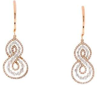Frederic Sage 14K Diamond Never Ending Drop Earrings