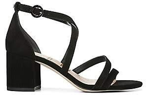 55a514f71b7 Sam Edelman Women s Stacie Strappy Suede Block Heel Sandals