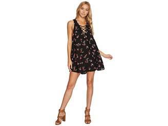 Show Me Your Mumu Rancho Mirage Lace-Up Tunic Dress Women's Dress
