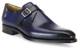 Sutor Mantellassi Single Monk Strap Leather Derby Shoes