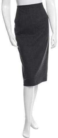 Michael Kors Fitted Knee-Length Skirt