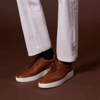 Sandro Leather trainers with contrasting sole