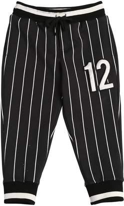 Dolce & Gabbana 12 Striped Cotton Sweatpants
