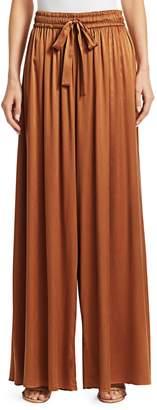 Zimmermann Silk Wide-Leg Drawstring Pants