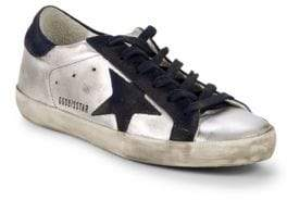 Golden Goose Star Lace-Up Leather Sneakers