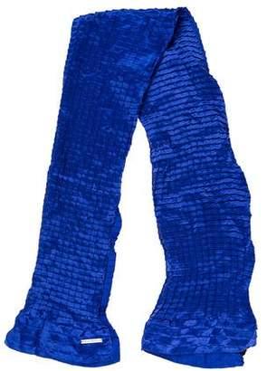 Emporio Armani Pleated Silk Scarf w/ Tags