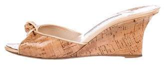 Manolo Blahnik Cork Slide Sandals