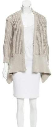 Rick Owens Fisherman Knit Draped Cardigan