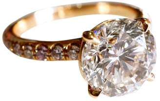 18K Rose Gold 3.64tcw Brilliant and Fancy Pink Diamond Engagement Ring Size 5.5