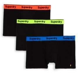 Superdry Three-Pack Logo Boxer Briefs