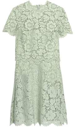 Valentino Layered Cotton-Blend Corded Lace Mini Dress