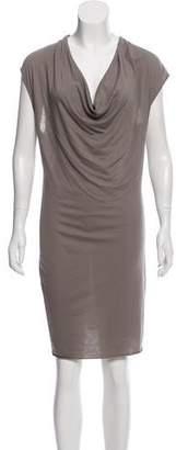 Helmut Lang Cowl Neck Knee-Length Dress