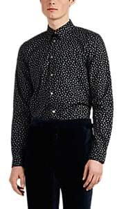 Paul Smith Men's Floral Cotton Poplin Shirt - Black