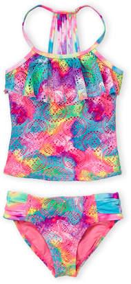 b618290d59 Angel Beach (Girls 7-16) Two-Piece Boho Tie-Dye Tankini