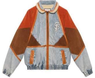 Gucci Men's denim jacket with SF GiantsTM patch