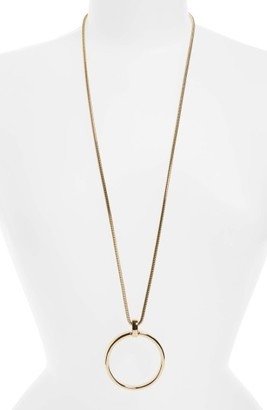 Women's Nordstrom Open Circle Long Pendant $45 thestylecure.com